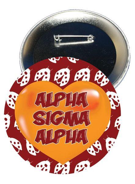 Alpha Sigma Alpha Heart Button