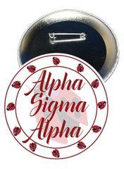 Alpha Sigma Alpha Sorority Button