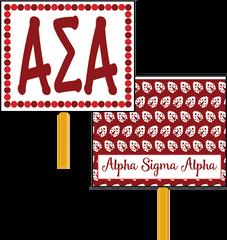 Alpha Sigma Alpha Logo Hand Fan