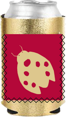 Alpha Sigma Alpha Metallic Coozie with Pocket