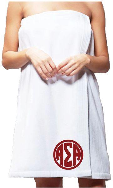 Alpha Sigma Alpha Monogram Towel Wrap