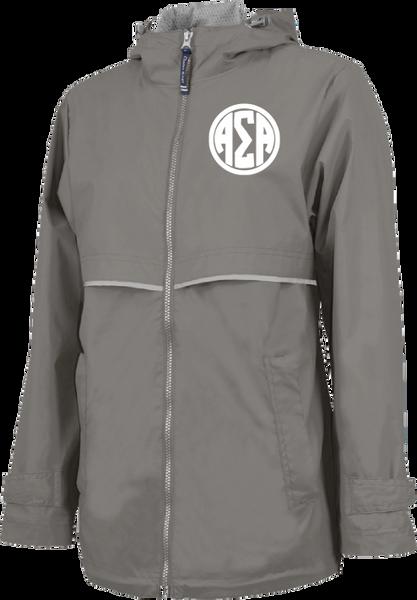 Alpha Sigma Alpha Monogram Rain Jacket