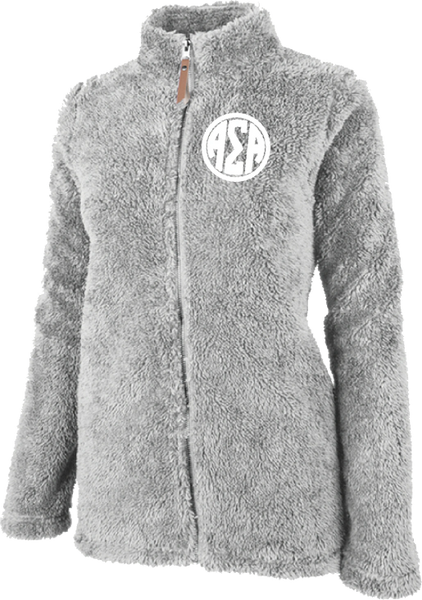 Alpha Sigma Alpha Fluffy Fleece Jacket