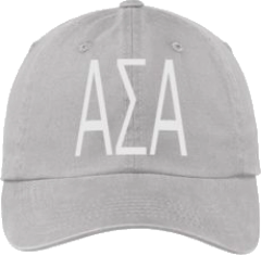 Alpha Sigma Alpha Gray Ball Cap