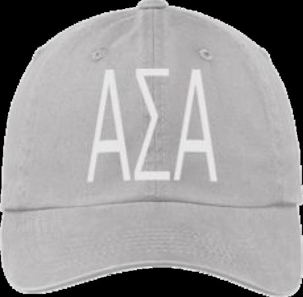 Alpha Sigma Alpha Gray Ball Cap