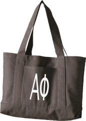Alpha Phi Letters Canvas Tote Bag