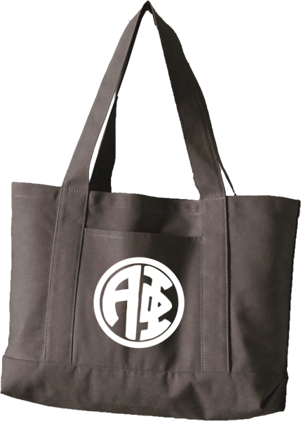 Alpha Phi Monogram Canvas Tote Bag