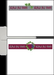 Alpha Phi Mom Logo Postcards
