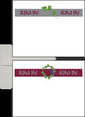 Alpha Phi Logo Postcards