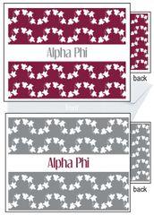 Alpha Phi Sorority Notecards