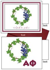 Alpha Phi Flower Notecards