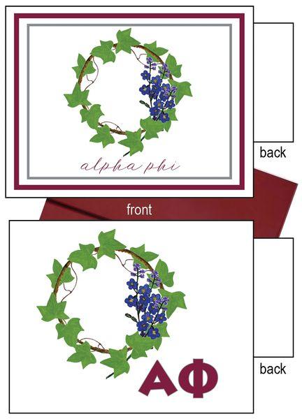 Alpha Phi Flower Notecards