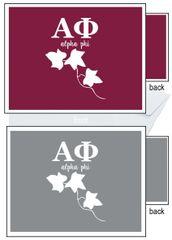 Alpha Phi Letter Notecards