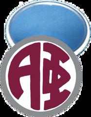 Alpha Phi Monogram Silver Mirror