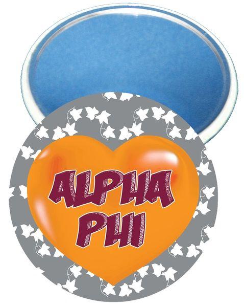 Alpha Phi Heart Mirror
