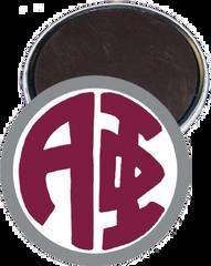 Alpha Phi Monogram Silver Magnet