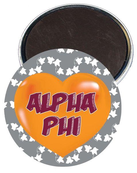 Alpha Phi Heart Magnet