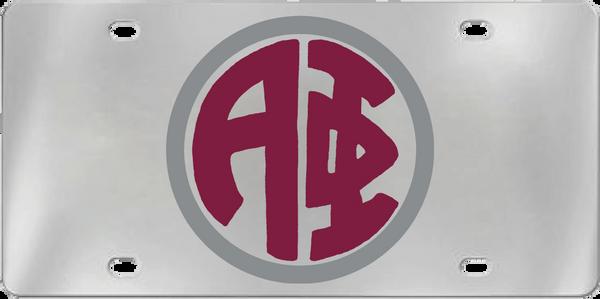Alpha Phi Aluminum Monogram License Plate