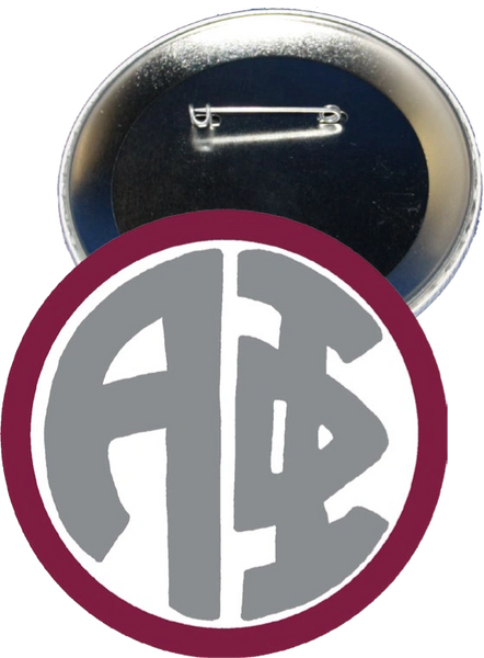 Alpha Phi Monogram Red Button