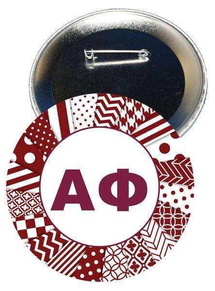Alpha Phi Letters Button