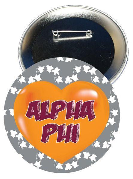Alpha Phi Heart Button