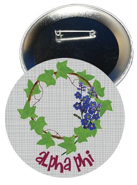 Alpha Phi Logo Button