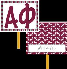 Alpha Phi Logo Hand Fan