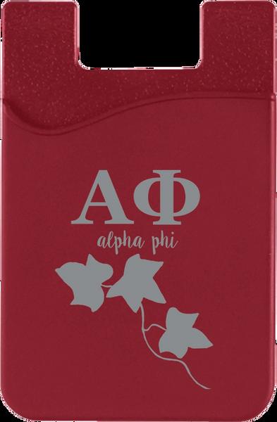 Alpha Phi Logo Cell Phone Pocket