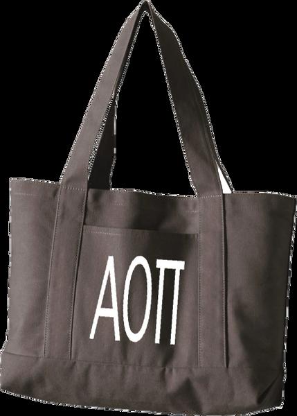 Alpha Omicron Pi Letters Canvas Tote Bag