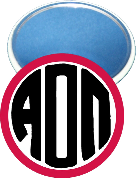 Alpha Omicron Pi Monogram Red Mirror