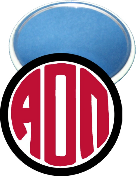 Alpha Omicron Pi Monogram Black Mirror