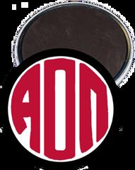 Alpha Omicron Pi Monogram Black Magnet