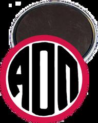 Alpha Omicron Pi Monogram Red Magnet