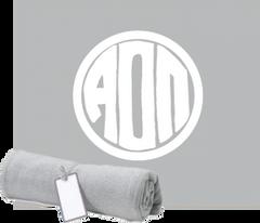 Alpha Omicron Pi Monogram Sweatshirt Blanket
