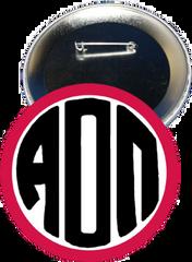 Alpha Omicron Pi Monogram Red Button