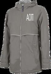 Alpha Omicron Pi Letters Rain Jacket