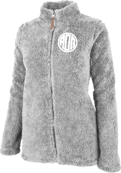 Alpha Omicron Pi Fluffy Fleece Jacket