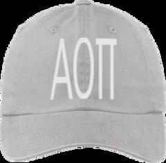Alpha Omicron Pi Gray Ball Cap