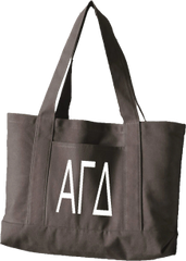 Alpha Gamma Delta Letters Canvas Tote Bag