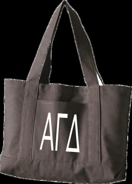 Alpha Gamma Delta Letters Canvas Tote Bag