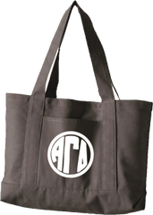 Alpha Gamma Delta Monogram Canvas Tote Bag