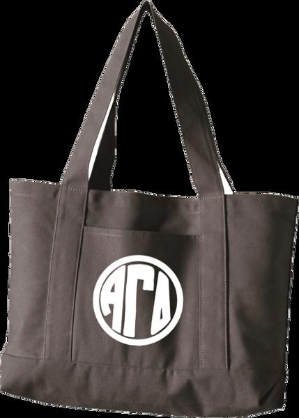 Alpha Gamma Delta Monogram Canvas Tote Bag