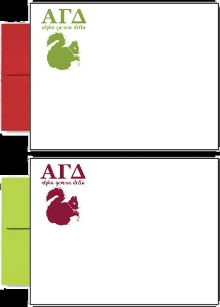 Alpha Gamma Delta Letter Postcards