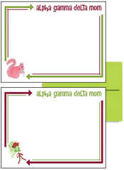 Alpha Gamma Delta Mom Arrow Postcards