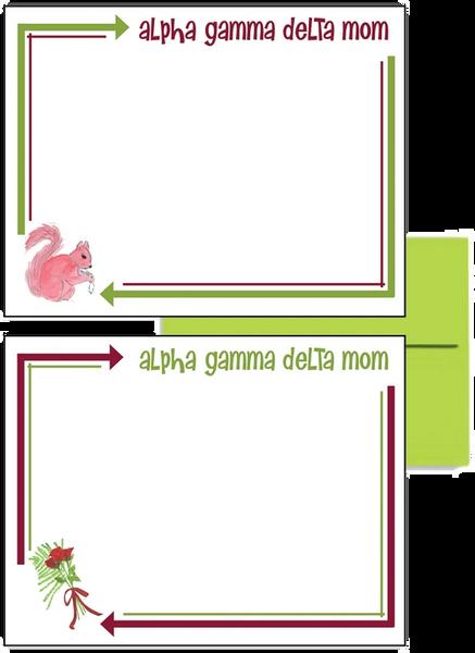 Alpha Gamma Delta Mom Arrow Postcards