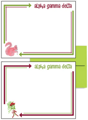 Alpha Gamma Delta Arrow Postcards