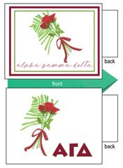 Alpha Gamma Delta Flower Notecards