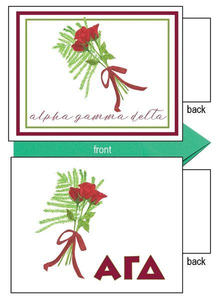 Alpha Gamma Delta Flower Notecards
