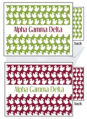 Alpha Gamma Delta Sorority Notecards