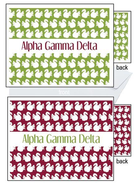 Alpha Gamma Delta Sorority Notecards